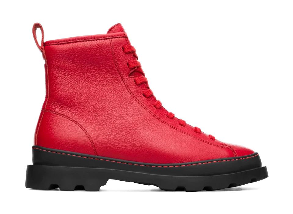 botas camper brutus color rojo